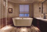 Baignoire acrylique blanche debout libre d'intérieur de massage de rectangle chaud de vente