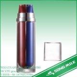 50ml多彩で装飾的なプラスチックおよびアルミニウム空気のないびん