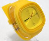 Yxl-973 Uhrenarmband für Unisexform-Silikon-Quarz-Mann-Frauen-Gelee-Handgelenk-beiläufige Sport-Uhr