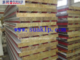 Resistenza al fuoco Rock Wool Sandwich Panel per Roof e Wall