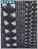 女性の服のための卸し売りスパンデックスのレース/ナイロン幾何学のレースファブリック