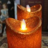 Cera del LED a forma di bella colonna che sposta la candela del LED