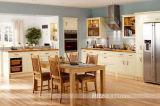 Festes Holz-Auslegung-Ahornholz-natürlicher Küche-Möbel-Schrank