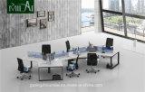 Spätester Entwurf gebogener Büro-Schreibtisch mit Metallfuß