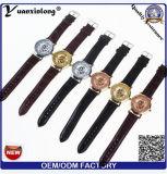 Wristwatch армии спорта шкалы кожи серебра черного золота классицистических людей Yxl-840 каркасный механически