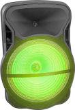 15のインチの無線サウンド・システムの携帯用再充電可能なトロリースピーカーのプラスチック実行中のスピーカーボックスCx15D
