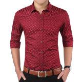 Chemise 2017 de chemise de chemise de robe de coton de vente en gros longue pour les hommes