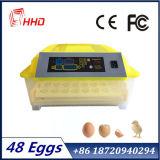 Hhd 상표 48 계란 판매 (EW-48)를 위한 투명한 자동적인 소형 부화 기계