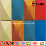Parede composta de alumínio lustrosa do revestimento do ACP do painel de Ideabond com material de construção do revestimento da cor vermelha para a decoração interior