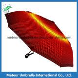 Presente amarelo Sun da dobra da manta 3 da forma/guarda-chuva compato da chuva
