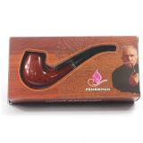 Tubulação de fumo macia de venda quente do punho do ébano vermelho chinês Handmade