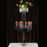 5 Arms Crystal Candle Holder per Wedding Decoration