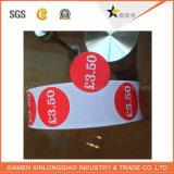 Precio de venta de la etiqueta impresa etiqueta autoadhesiva servicio de impresión de etiqueta engomada de papel