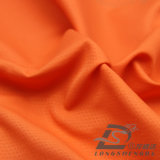 Agua y de la ropa de deportes tela rayada tejida chaqueta al aire libre Viento-Resistente 100% del poliester del telar jacquar de la piel del melocotón de la pongis abajo (53043)