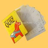 Cartes de jeu éducatives de tisonnier de carte d'enfants faits sur commande