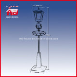 Rainproof Rosso-House Christmas Snowing Streetlamp con Music 180cm