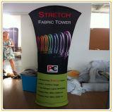 Soporte de bandera de tejido de tensión superior angulado