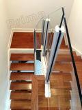 알루미늄 유리제 방책 난간을%s 실내 계단 파 디자인