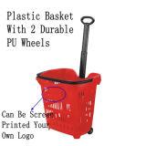 Plastik50l einkaufskorb mit Rädern