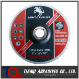 Rodas de abrasivos, rodas de moedura para o metal 180X6.0X22.23