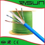 Twisted pair Unshielded CAT6 do cabo da rede