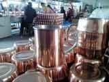 O cobre do aço inoxidável chapeou a caneca da vodca da caneca, caneca chapeada da mula de 16oz cobre contínuo Moscovo, caneca lustrada 550ml do cobre do aço inoxidável