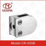 Broche en verre de bride de forme ronde d'acier inoxydable pour le système de balustrade (CR-055B)