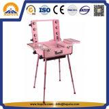 Caja de maquillaje cosmética de aluminio con patas (HB-3503)