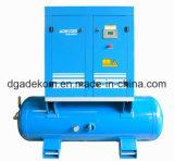 フルフィーチャオイルによって油を差されるタンクによって取付けられるねじ空気圧縮機(K4-08D/250)