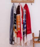 Lenço longo impresso listra da forma das mulheres do algodão (YKY1120)
