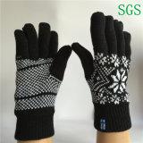 Doppelte Schicht-Winter-warme Form-preiswerter Jacquardwebstuhl strickte fünf Finger-Handschuhe
