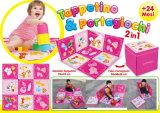 El almacenaje de múltiples funciones plegable divertido de la estera del juego del cuidado del bebé sienta los juguetes del rectángulo