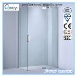 Cabine do chuveiro do banheiro/cerco do chuveiro com a dobradiça de bronze contínua (A-KW03)