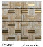 Inoxidable Mixta mármol natural del mosaico por un suelo de baldosas (FYSM012)