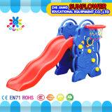 Cour de jeu en plastique molle de glissière de cour de jeu d'éléphant de forme d'enfants de jardin d'enfants d'intérieur de jouets (XYH12065-1)