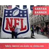 Выдвиженческий изготовленный на заказ напольный полиэфир резвится флаг, рекламируя флаг