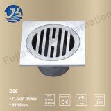 Drain d'étage concret de grand dos de salle de bains d'acier inoxydable (D06)