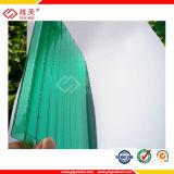 strato gemellare verde del policarbonato del PC della cavità della parete di 4mm per la tenda del tetto