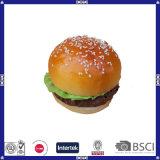 Giocattolo poco costoso di figura dell'hamburger della gomma piuma dell'unità di elaborazione