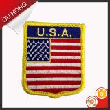 Het zelfklevende Flard van het Borduurwerk Overlock, het Flard van het Borduurwerk van de Vlag