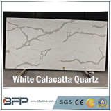 Elegant White Calacatta Quartzs para Slabs / Tiles / Countertops Interior Design