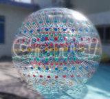 Juego de bola inflable de Zorb de la bola humana del hámster con la raza de dos calles