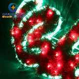 Große 2m LED Merry Christmas Sign Motif LED Green Rope Lights