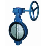 Api 609 Metal Seated Tripple Eccentric Lug e Wafer Butterfly Valve con Gearbox