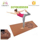 De natuurlijke Cork Mat van de Yoga, Afgedrukte Douane, de Mat van de Yoga Eco