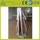Etapa plegable del pequeño de la exposición del funcionamiento braguero de aluminio de la madera contrachapada LED