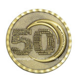 3D Promtional Double Sides Coin con Antique Brass Finish
