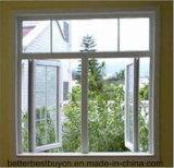 Fenster des Flügelfenster-UPVC Plasitc mit dekorativem Streifen