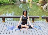Vouwbare de Mat van de Yoga van het natuurlijke Rubber, Wasbare Machine