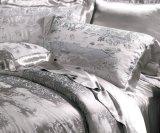 Taihuの雪の絹の中国の従来のジャカード灰色の絹の寝具セット
